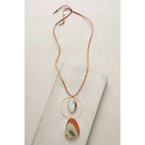 NWT Anthropologie jasper pendant necklace